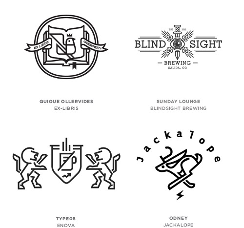 Line Craft trend logo examples