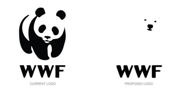 Current vs. proposed logo