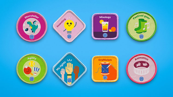 Girl Scouts UK New Badge Brands