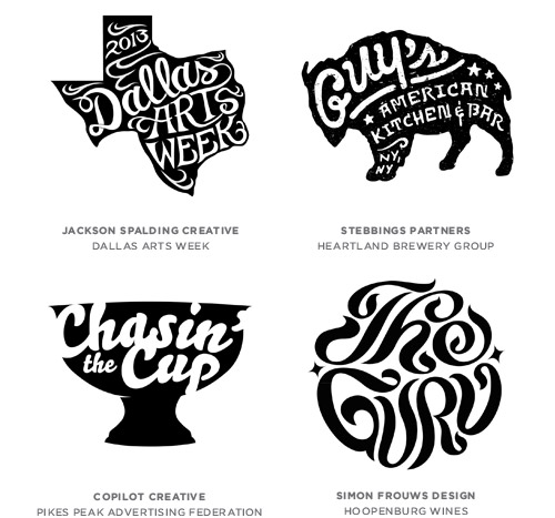 Written trend logo examples