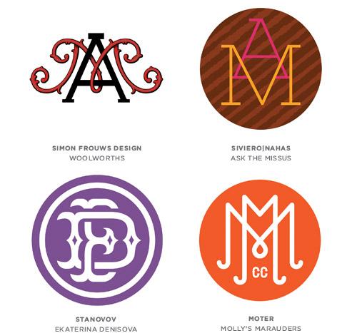 monograms trend logo examples