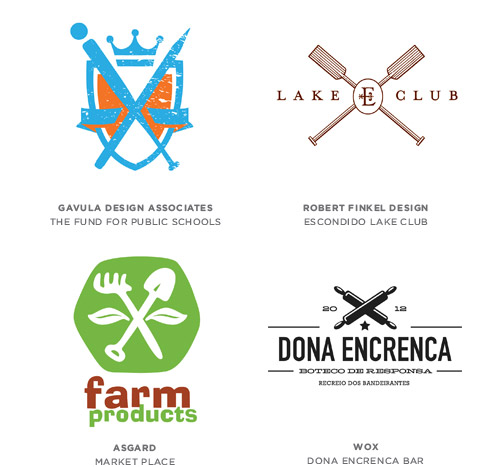 Crossed trend logo examples