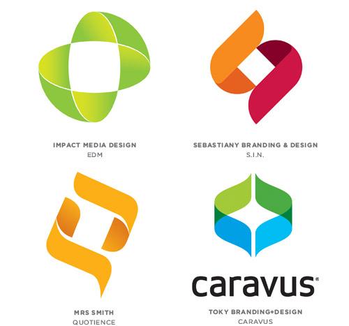 Bracketing trend logo examples