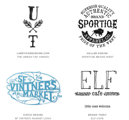 Hand Type trend logo examples