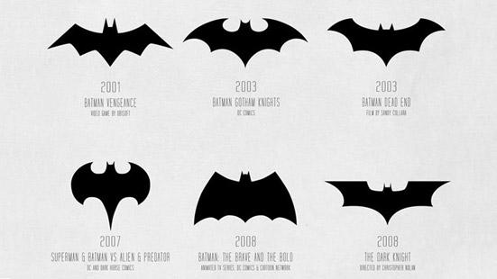 Batman Rebrands Over Time   Articles   LogoLounge