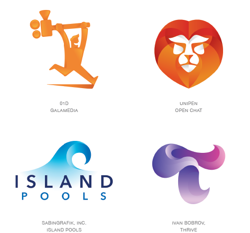 Contours logo trend examples