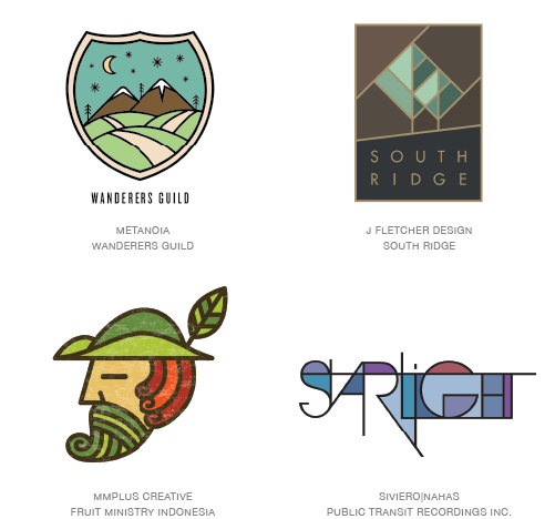 Coloring logo trend examples