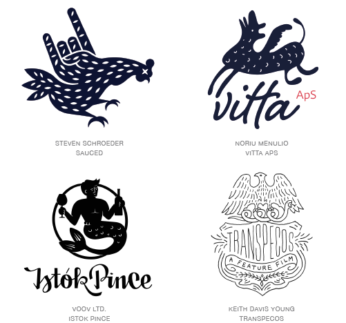 Naive logo trend examples
