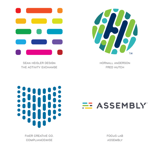 Coded logo trend examples