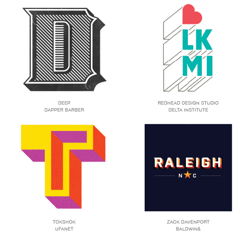 Shaded logo trend examples