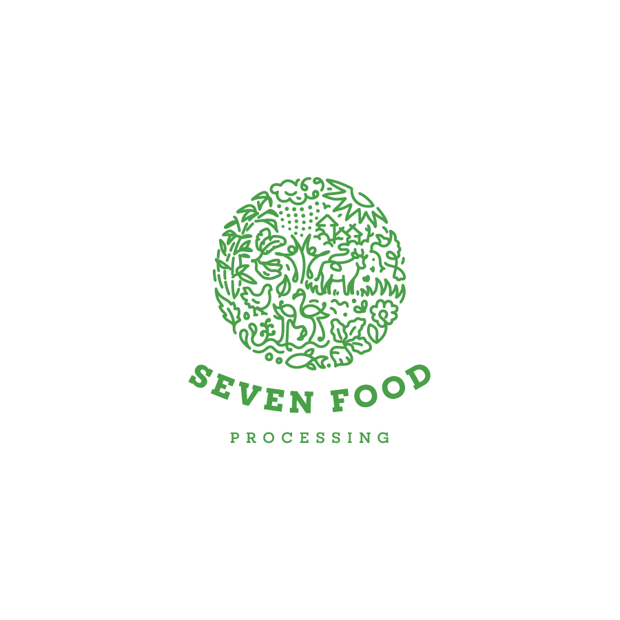 Identity for a sustainable food processing brand
