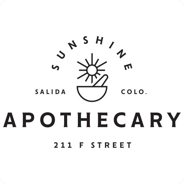 Salida Sunshine Apothecary logo design by logo designer Sunday Lounge
