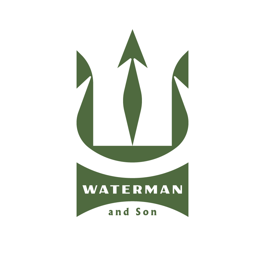Waterman & Son logo design by logo designer J Fletcher Design for your inspiration and for the worlds largest logo competition