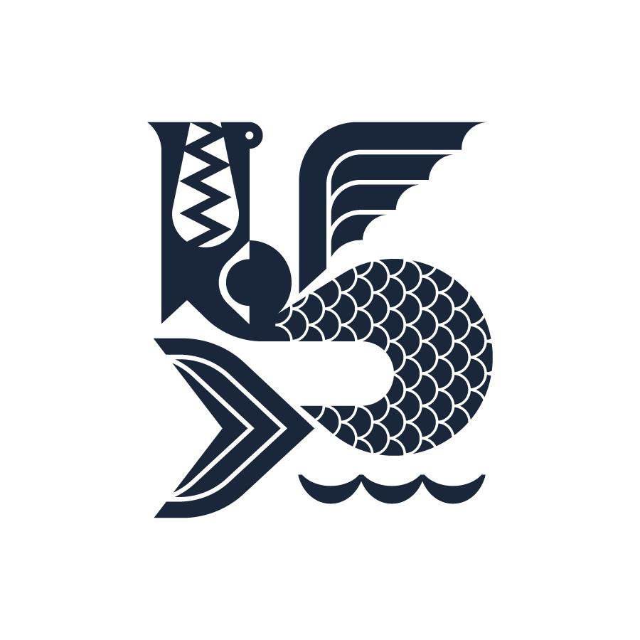 Sea Monster logo design by logo designer J Fletcher Design for your inspiration and for the worlds largest logo competition