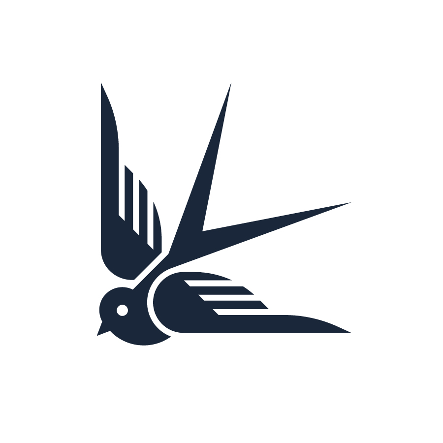 Swallow logo design by logo designer J Fletcher Design for your inspiration and for the worlds largest logo competition