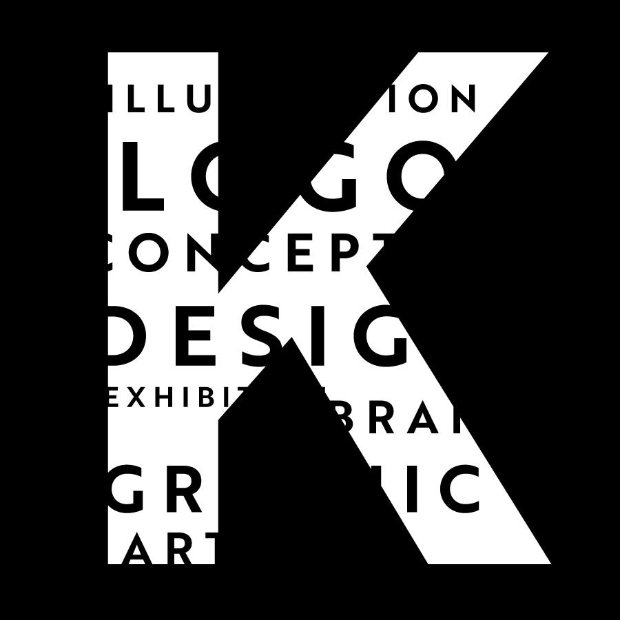 TK_K logo black logo design by logo designer Kongshavn Design
