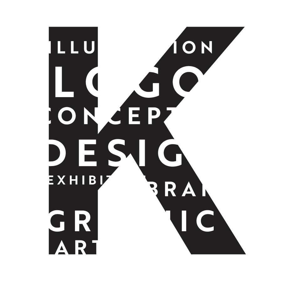 TK_K logo white logo design by logo designer Kongshavn Design