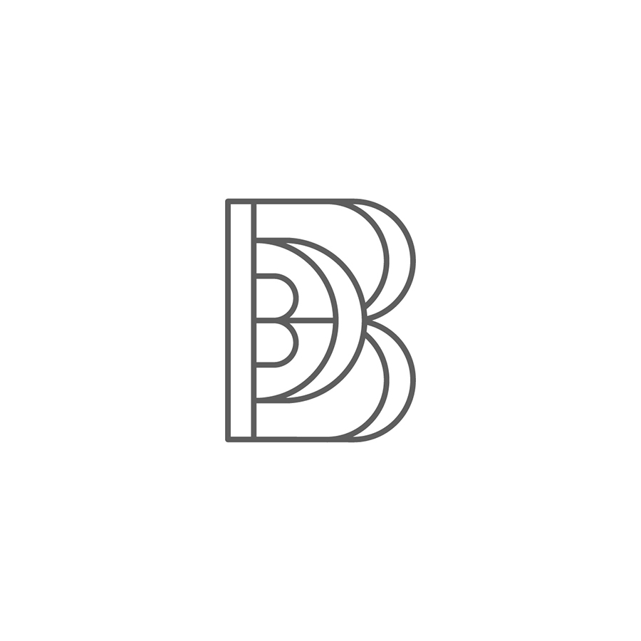 Brown Dot Beauty Monogram logo design by logo designer Braizen