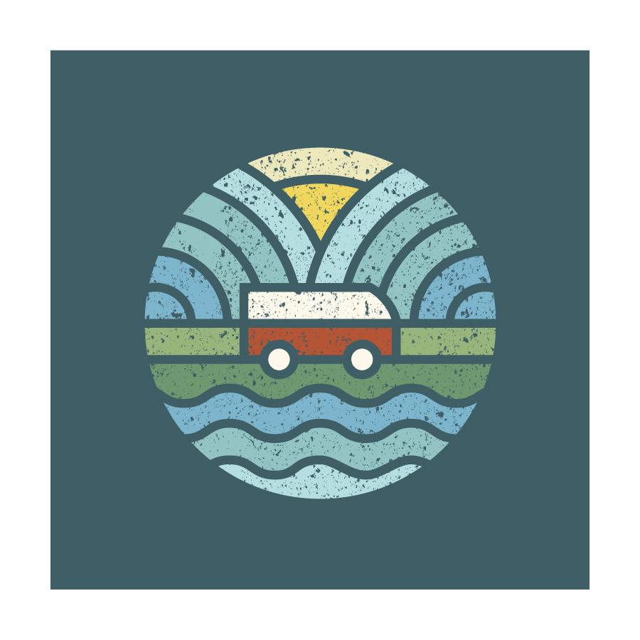 campervan logo design by logo designer Fogra Design
