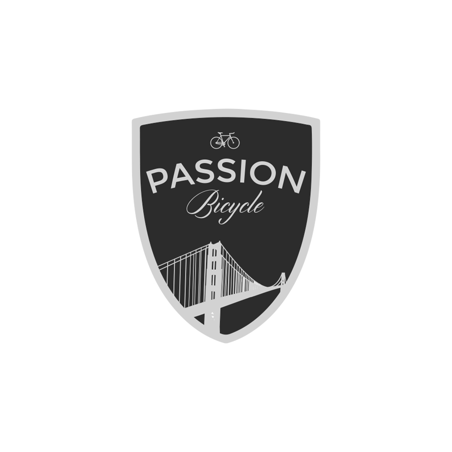 Passion Bicycle Shield logo design by logo designer JJ Lee Design for your inspiration and for the worlds largest logo competition