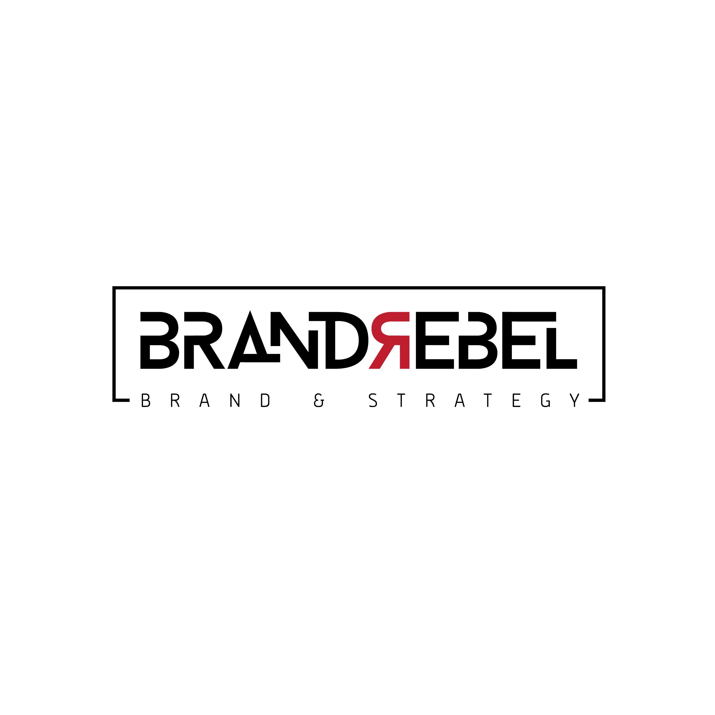 BrandRebel logo design by logo designer Jensen Group