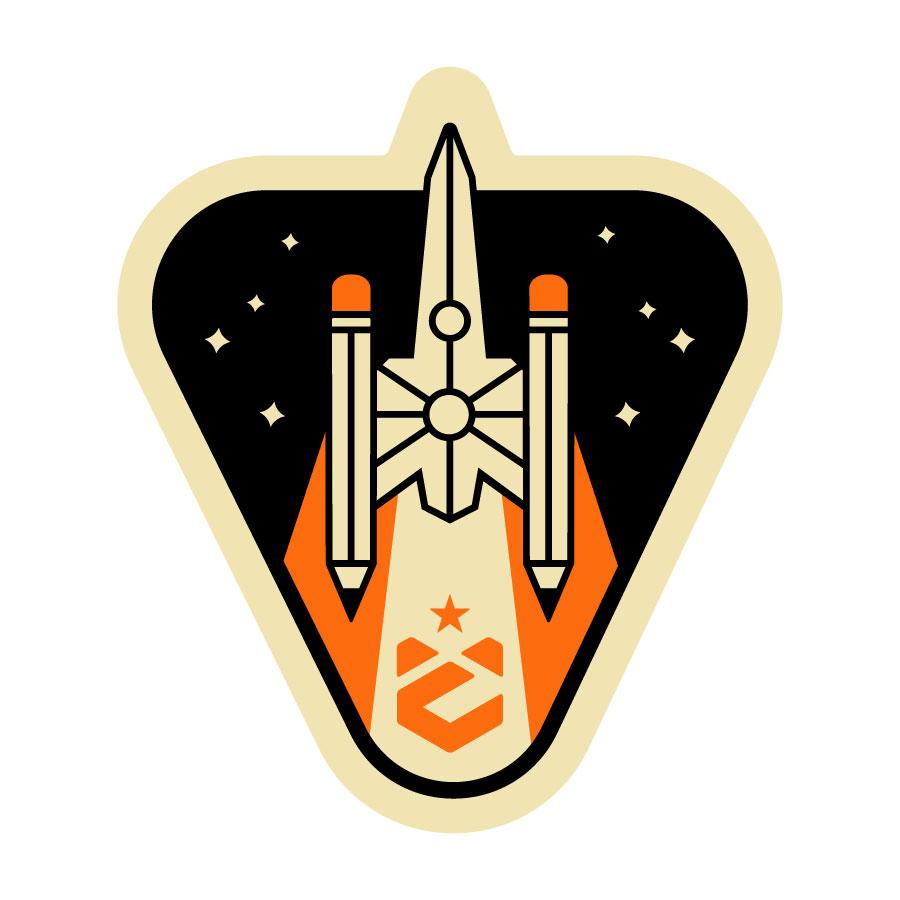 D.O.C.E. Rocket Badge