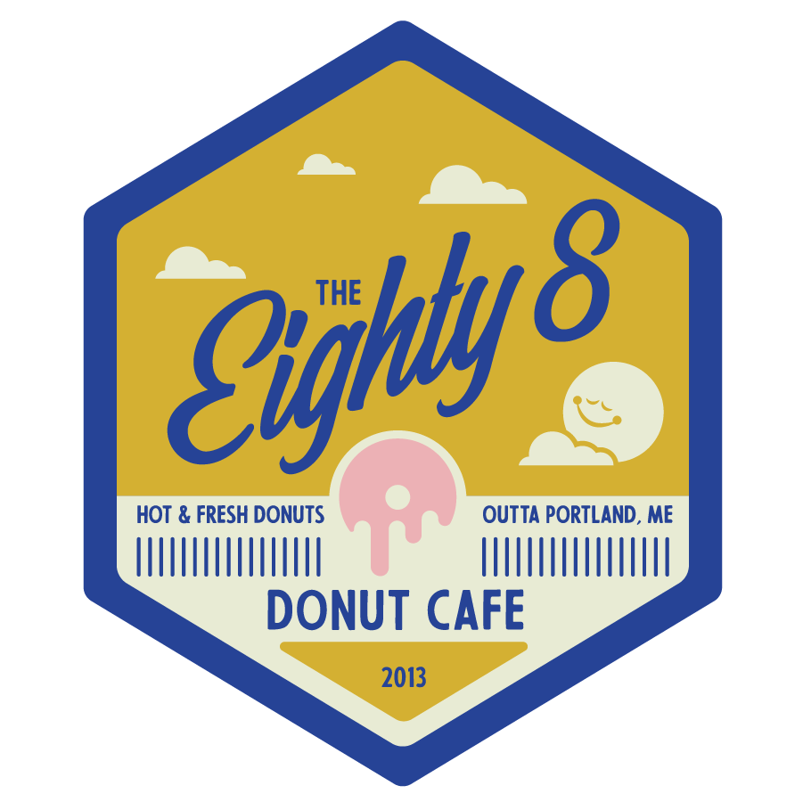 Eighty8 Donut Cafe Workers Badge