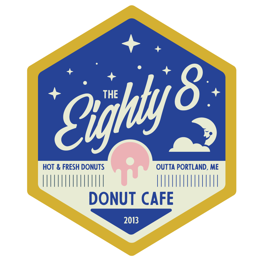 Eighty8 Donut Cafe Worker Badge (Night)