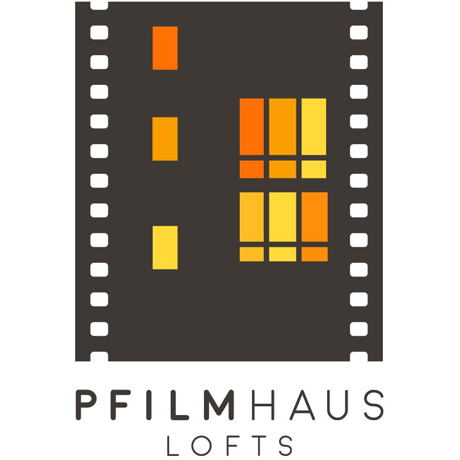 Pfilmhaus Lofts logo design by logo designer Blackdog Creative