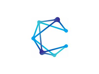 C for Constellation, logo design symbol