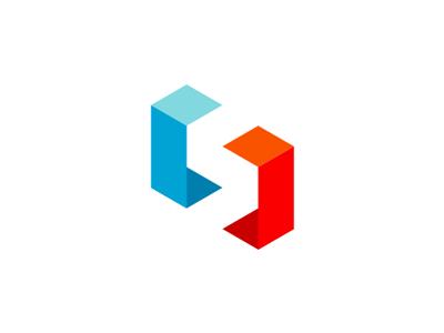 S In Negative Space, logo design symbol
