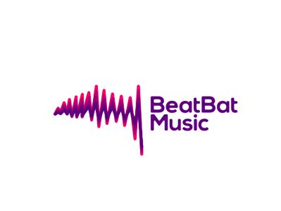BeatBat Music logo design