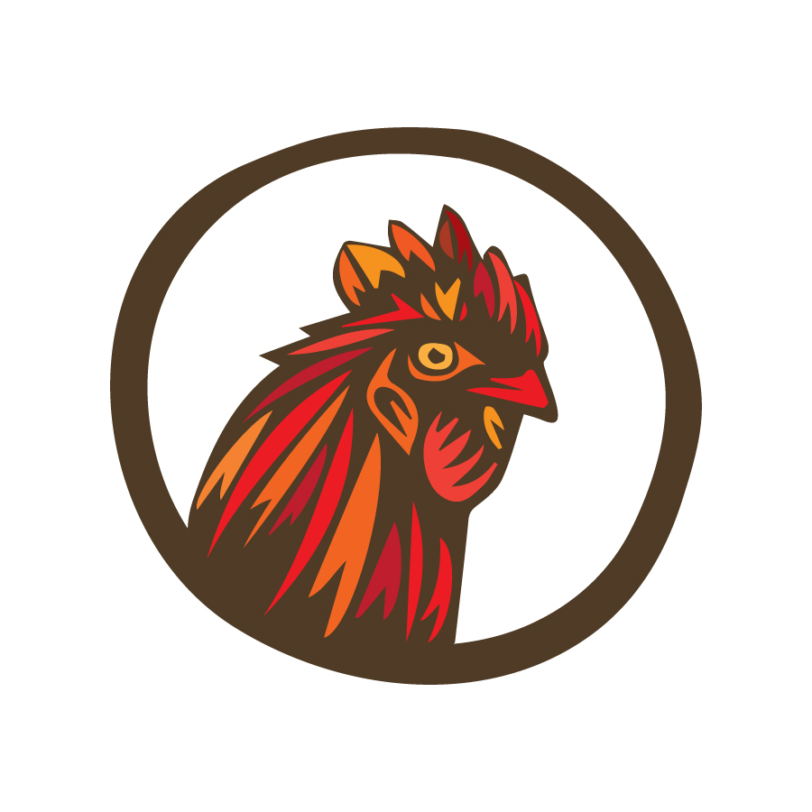 Clucker's Wood Roasted Chiken logo design by logo designer ZERO11 for your inspiration and for the worlds largest logo competition