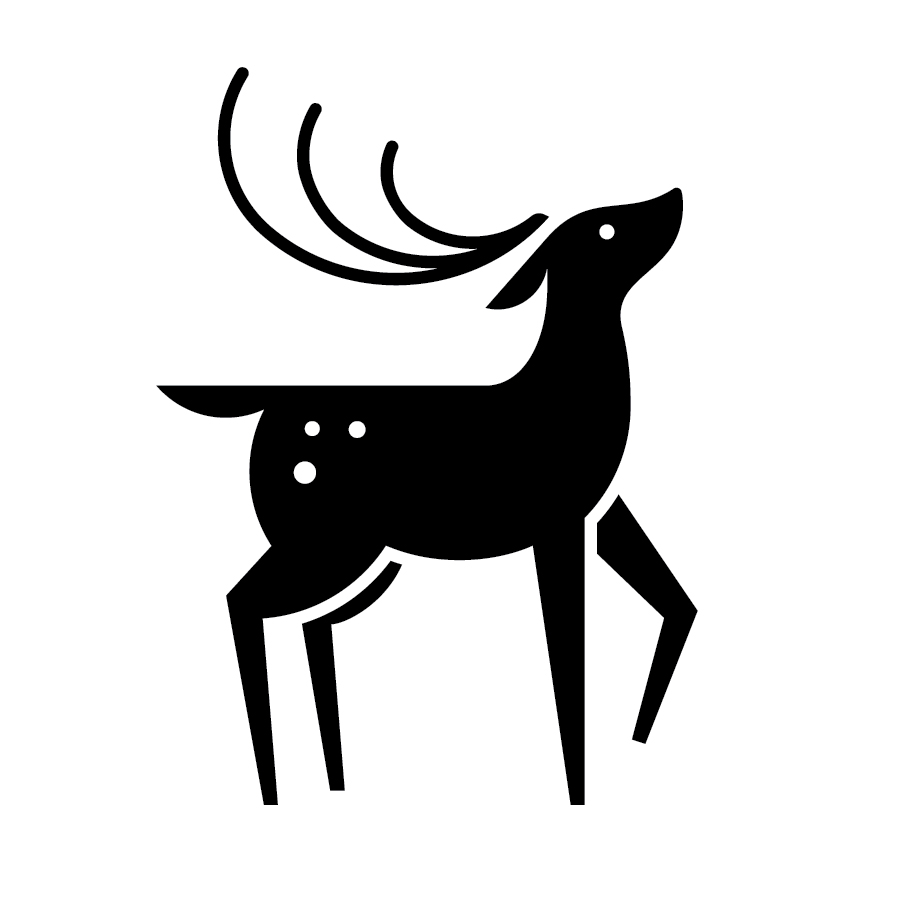 Deer logo design by logo designer Hatch Creative for your inspiration and for the worlds largest logo competition