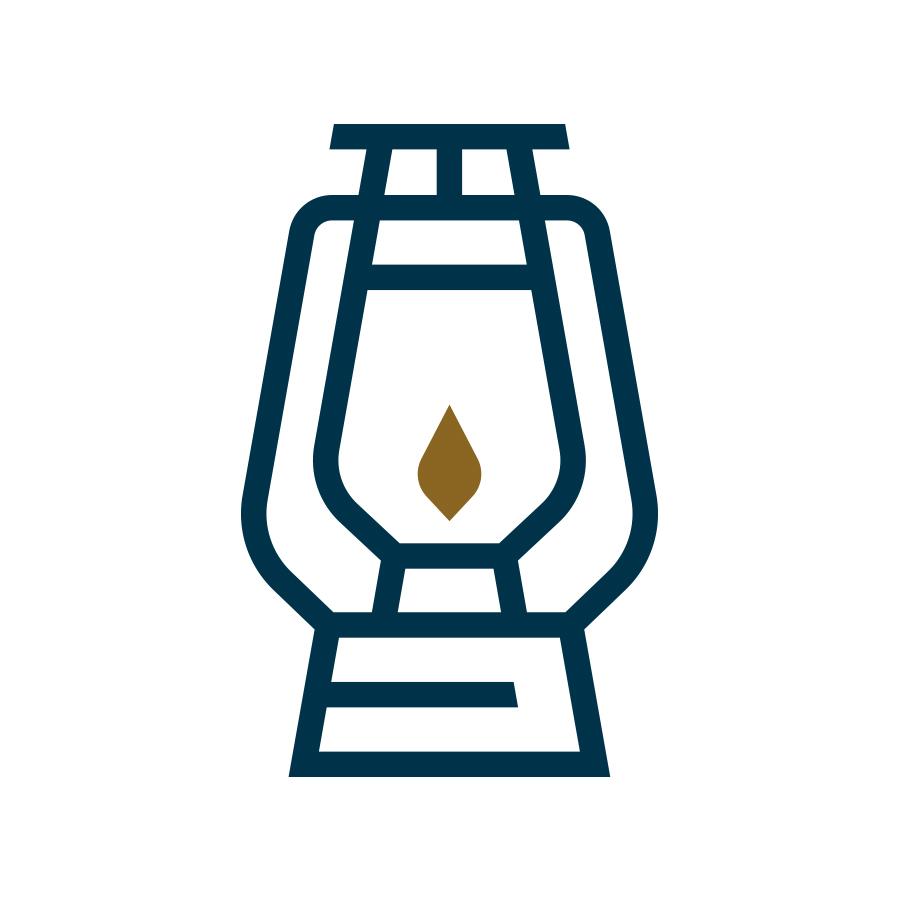 Lantern Wealth logo design by logo designer Backcountry Branding