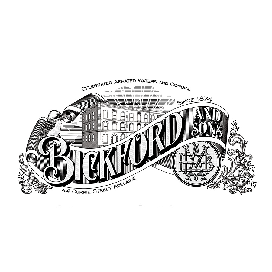 Bickford and Sons Label Design