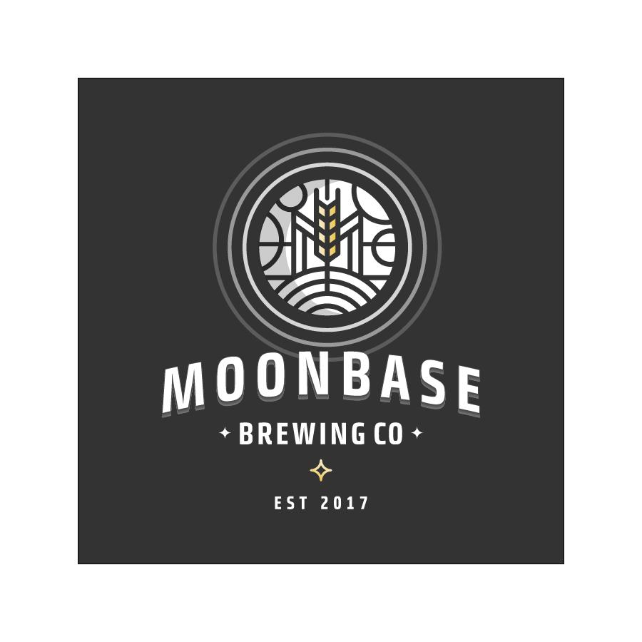 Moonbase Brewing logo design by logo designer Rokac