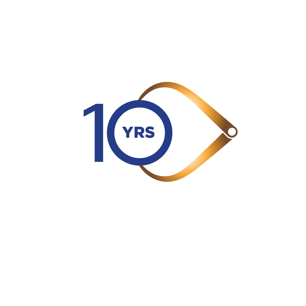 10 Years in Manufacturing logo design by logo designer jordan fretz design for your inspiration and for the worlds largest logo competition