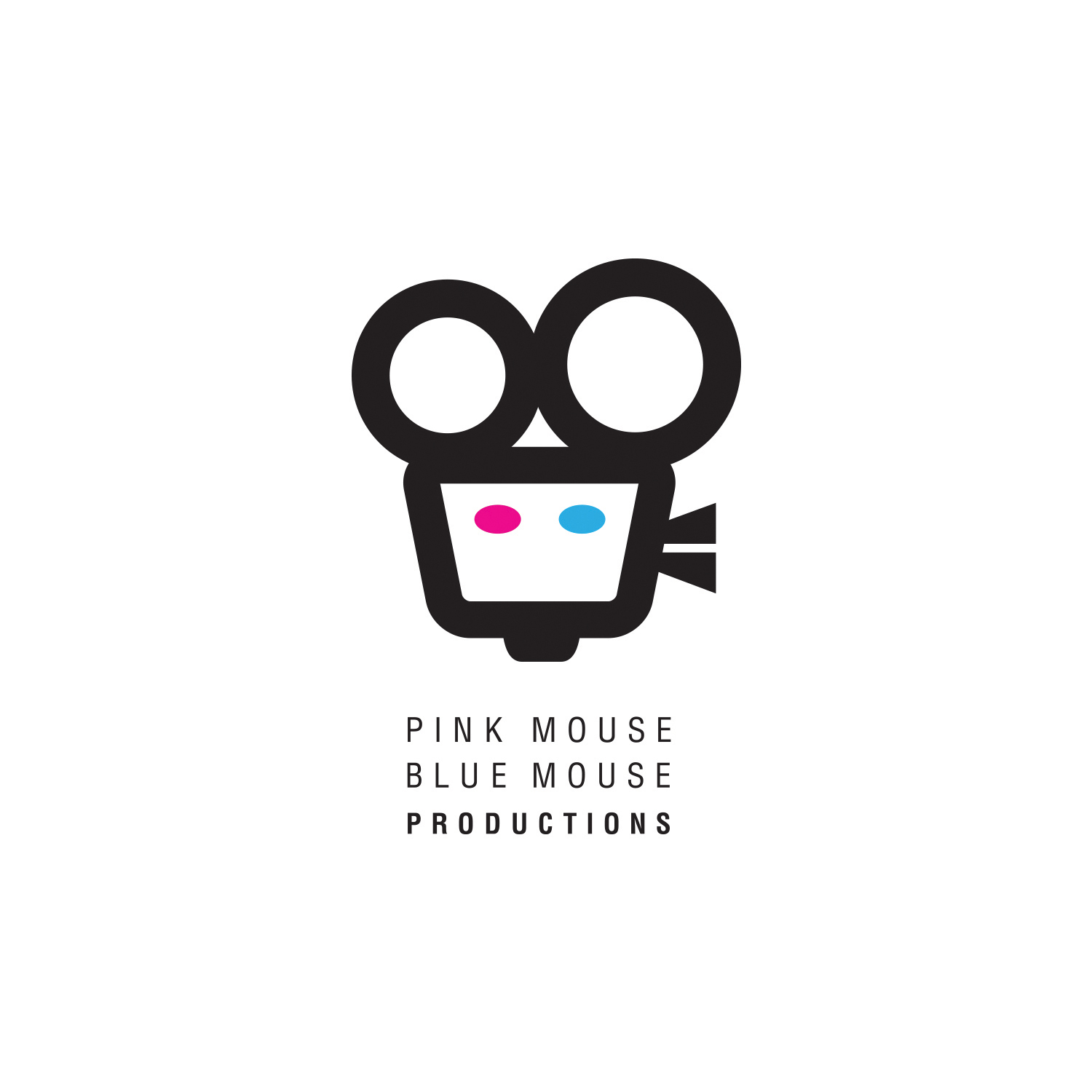 Pink Mouse Blue Mouse Productions_2 logo design by logo designer Harrell Creative