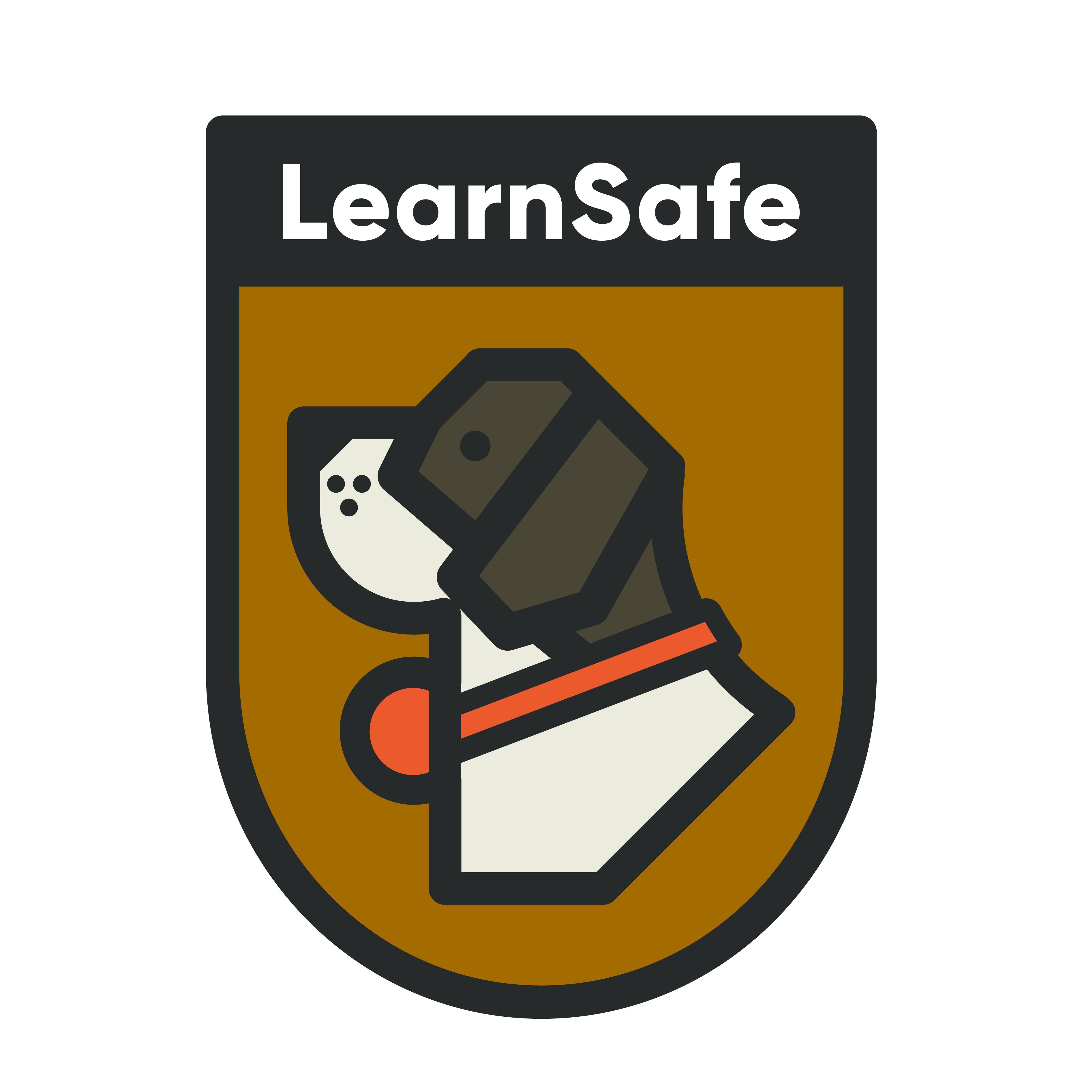 Learnsafe logo design by logo designer inkstache