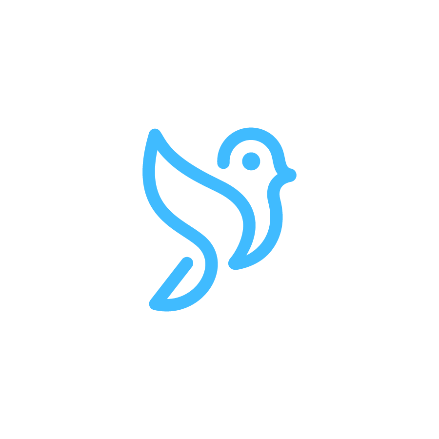Bird logo design by logo designer Deividas Bielskis for your inspiration and for the worlds largest logo competition