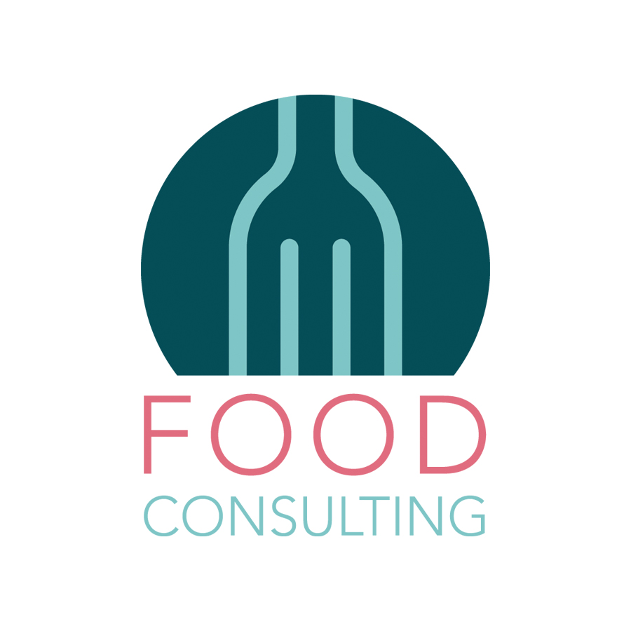 M Food Consulting logo design by logo designer Bizri Design Co.