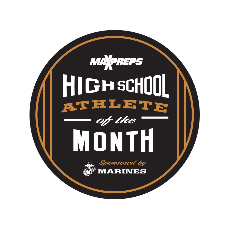 MaxPreps Athlete of the Month badge