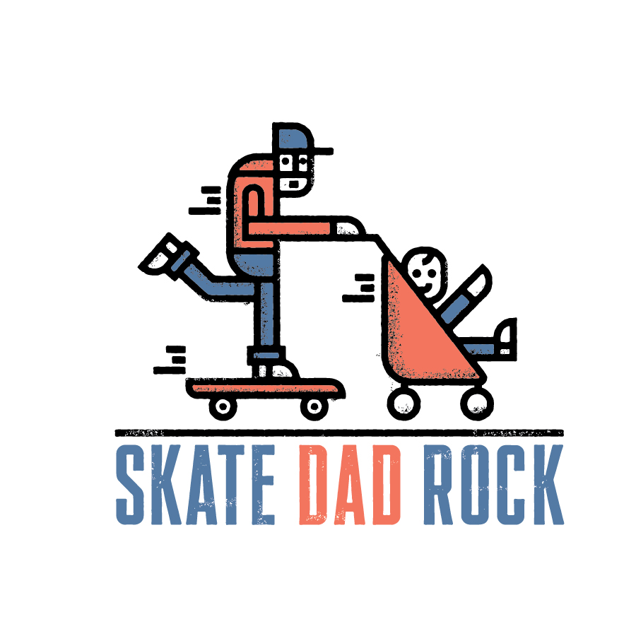 Skate Dad Rock logo design by logo designer Hotel Graphic Design Company for your inspiration and for the worlds largest logo competition