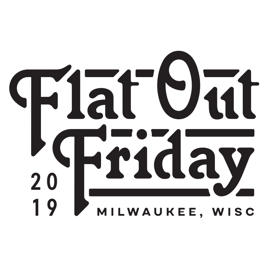 Flat Out Friday logo design by logo designer Zac Jacobson for your inspiration and for the worlds largest logo competition