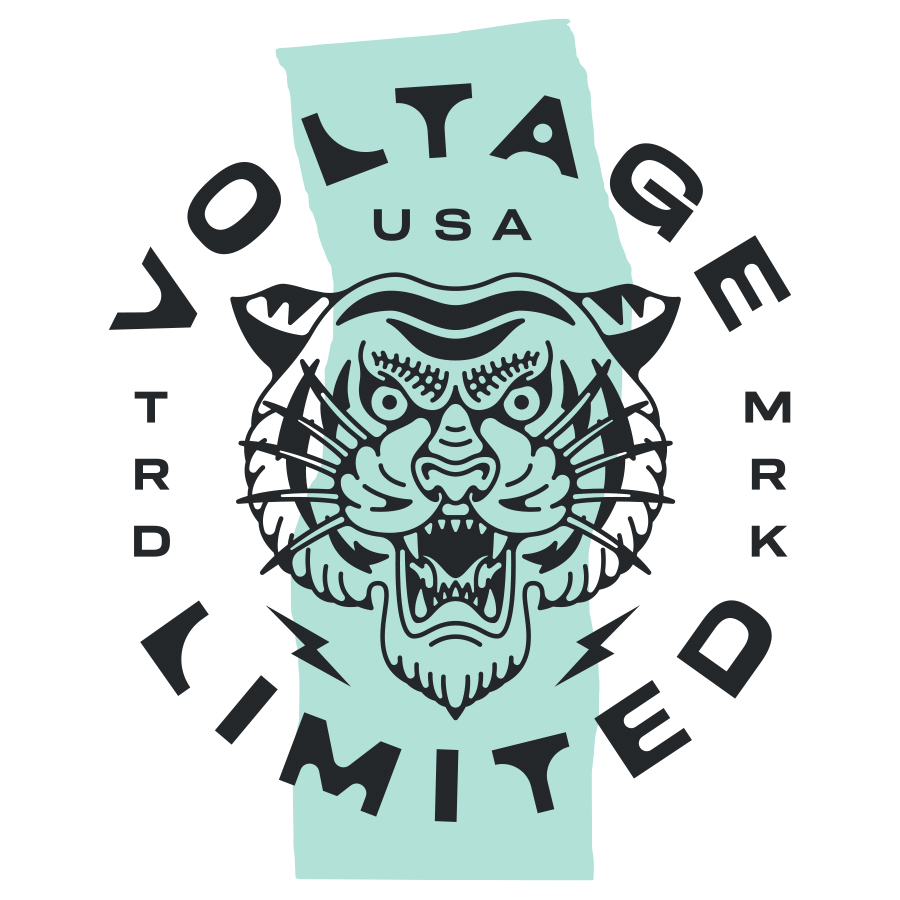 Voltage Limited logo design by logo designer Zac Jacobson for your inspiration and for the worlds largest logo competition