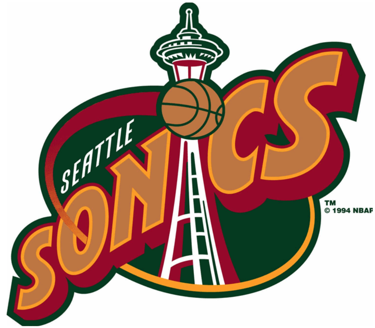 NBA Seattle Supersonics Primary Logo Design