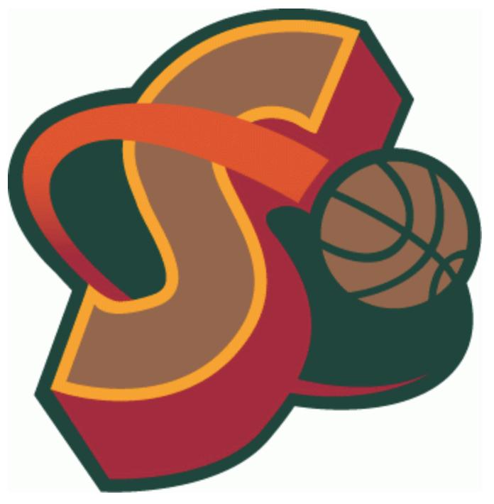 NBA Seattle Supersonics Secondary Logo Design