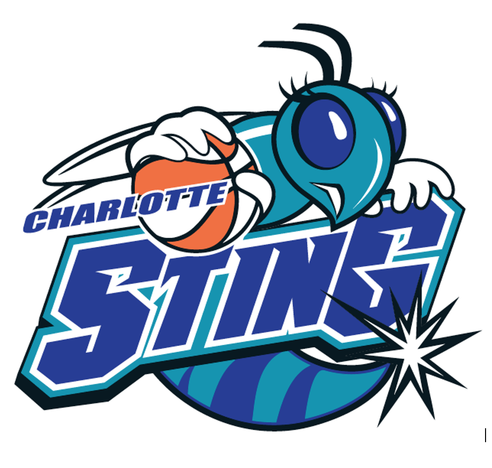 WNBA Charlotte Sting Pro Basketball Primary Logo