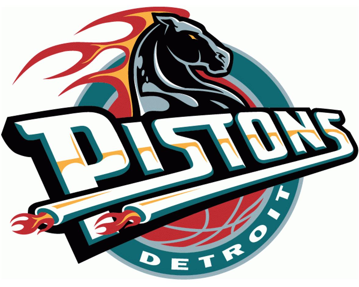 NBA Detroit Pistons Primary eyLogo